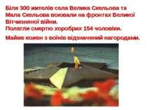 Біля 300 жителів села Велика Скельова та Мала Скельова воювали на фронтах Вел...