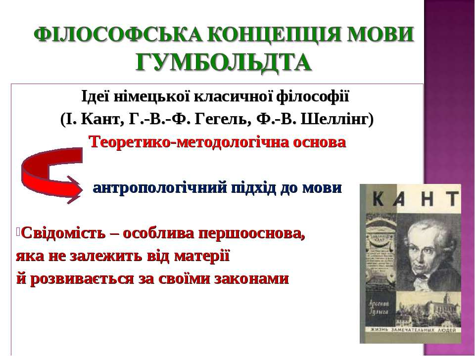 Ідеї німецької класичної філософії (І. Кант, Г.-В.-Ф. Гегель, Ф.-В. Шеллінг) ...