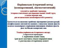 Порівняльно-історичний метод (компаративний, лінгвогенетичний) сукупність при...
