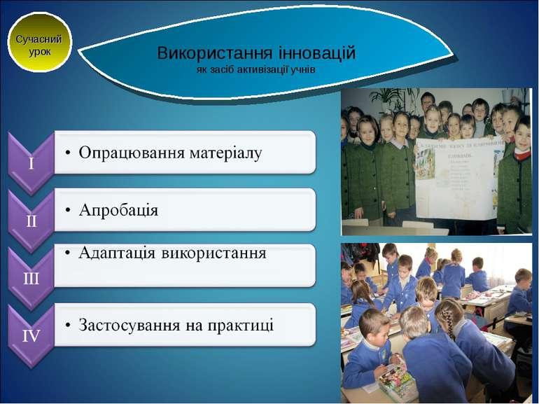Використання інновацій як засіб активізації учнів Сучасний урок