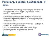 Регіональні центри в супроводі НП «ВС» 1. Високорівнева координація процесу п...