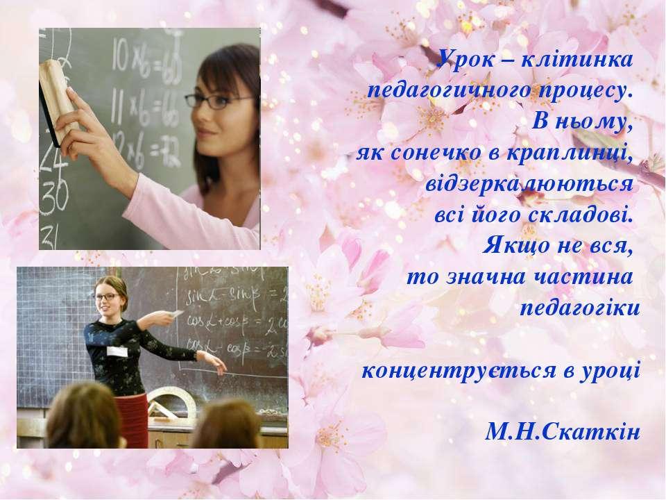 Урок – клітинка педагогичного процесу. В ньому, як сонечко в краплинці, відзе...