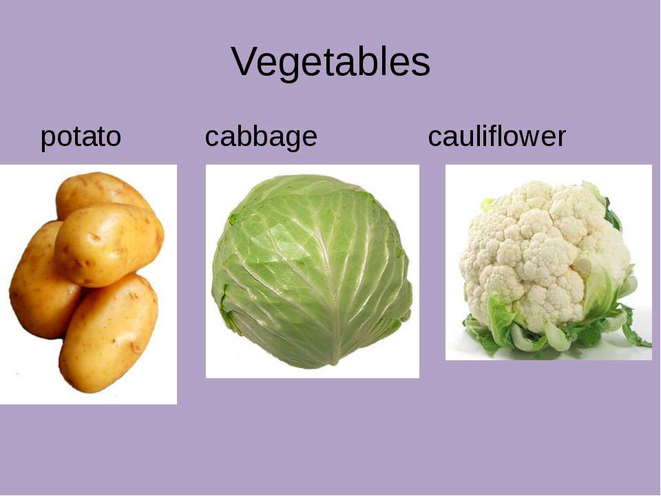 Vegetables potato cabbage cauliflower
