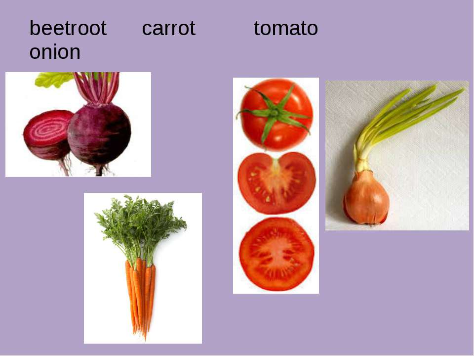 beetroot carrot tomato onion