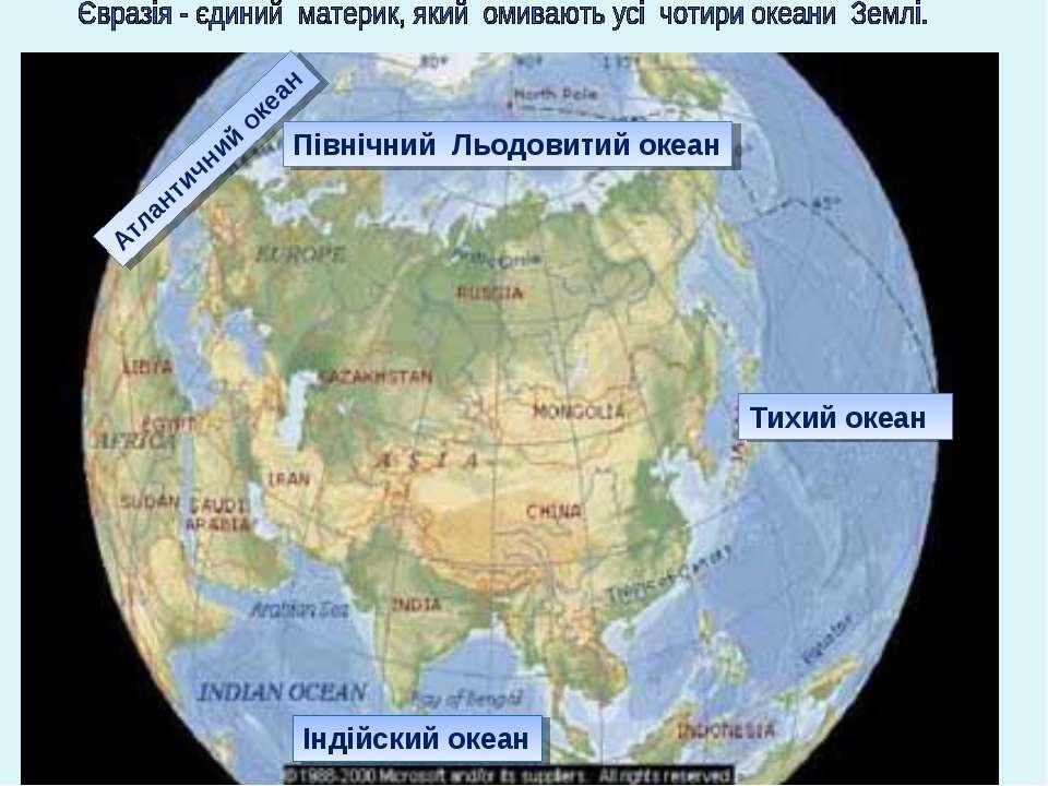 Тихий океан Атлантичний океан Північний Льодовитий океан Індійский океан
