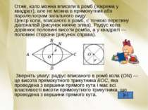 Отже, коло можна вписати в ромб (зокрема у квадрат), але не можна в прямокутн...