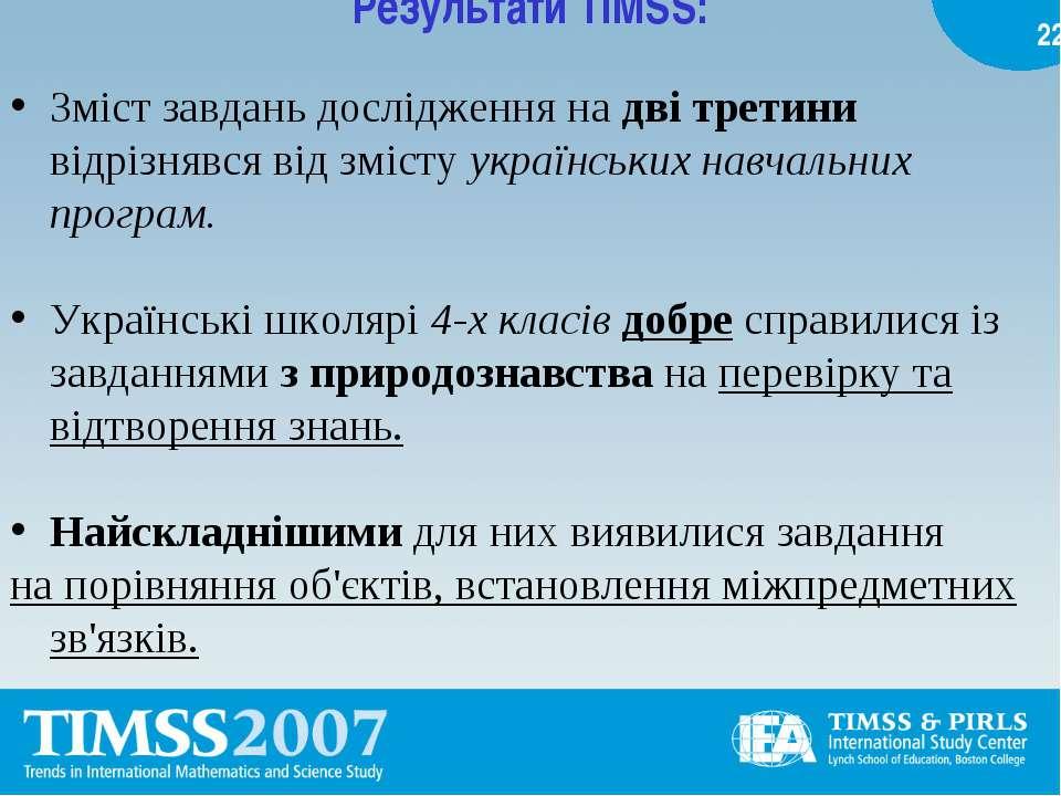 Результати TIMSS: Зміст завдань дослідження на дві третини відрізнявся від зм...
