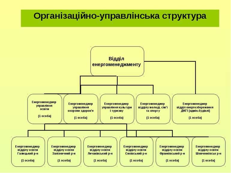 Організаційно-управлінська структура