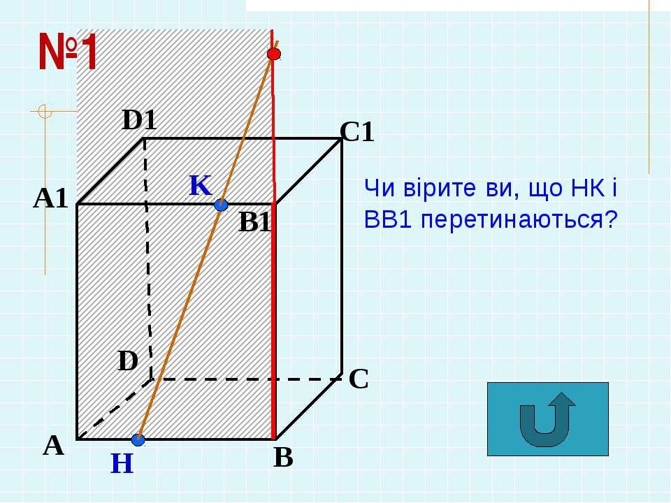 А В С D А1 D1 С1 B1 N Р Н К М Чи вірите ви, що НК і МР перетинаються? №2
