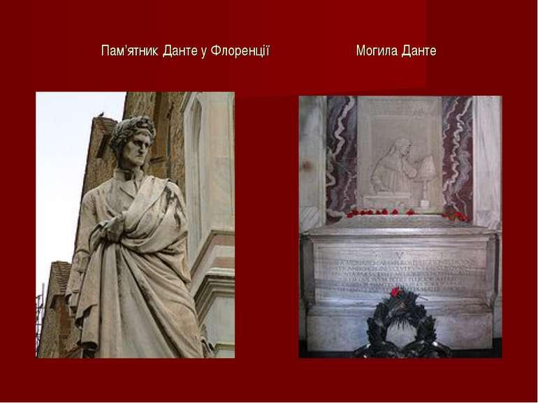 Пам'ятник Данте у Флоренції Могила Данте