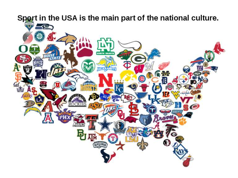 Sport in the USA is the main part of the national culture.