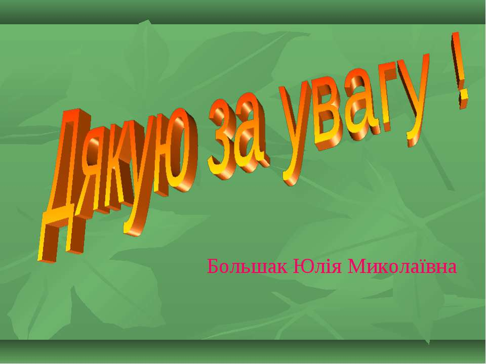 Большак Юлія Миколаївна