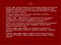 - 3 - Суфiкс –ен'- широко вивaється в iменникax середнього роду для утворення...