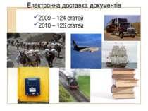 2009 – 124 статей 2010 – 126 статей Електронна доставка документів