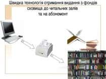 Швидка технологія отримання видання з фондів сховища до читальних залів та на...