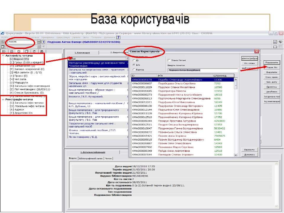 База користувачів