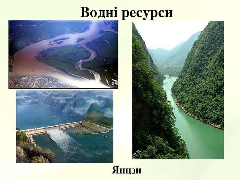 Водні ресурси Янцзи