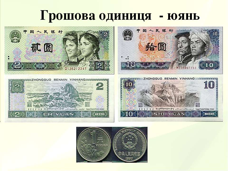Грошова одиниця - юянь