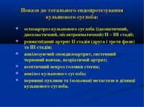 Покази до тотального ендопротезування кульшового суглоба: остеоартроз кульшов...