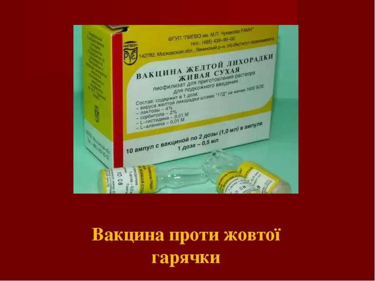 Вакцина проти жовтої гарячки