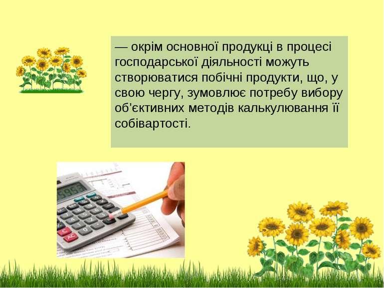 — окрiм основної продукцi в процесi господарської дiяльностi можуть створюват...