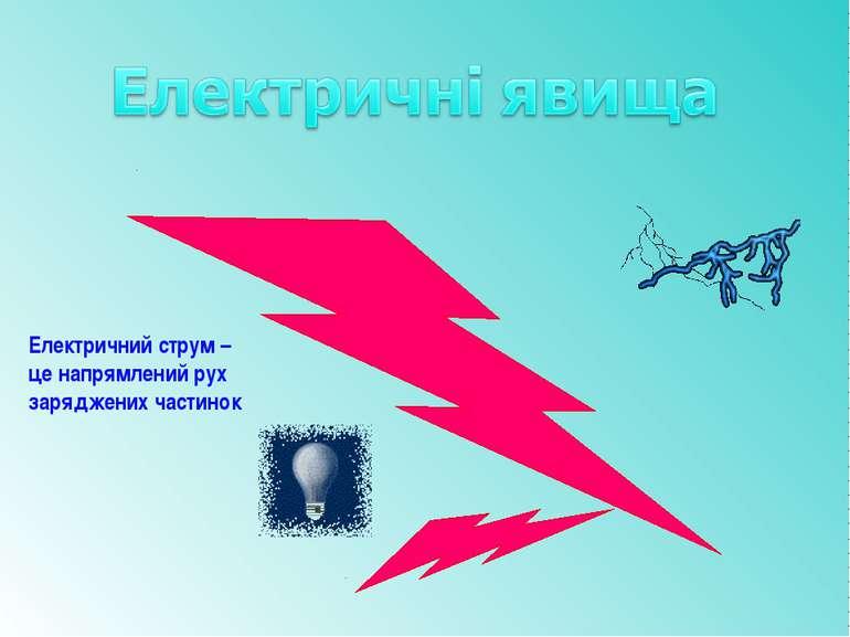 Електричний струм – це напрямлений рух заряджених частинок