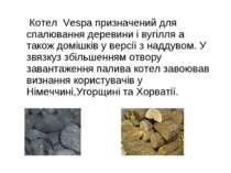 Котел Vespa призначений для спалювання деревини і вугілля а також домішків у ...