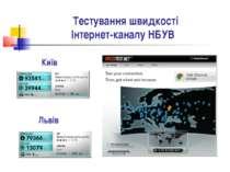 Тестування швидкості Інтернет-каналу НБУВ Київ Львів
