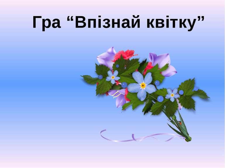 """Гра """"Впізнай квітку"""""""