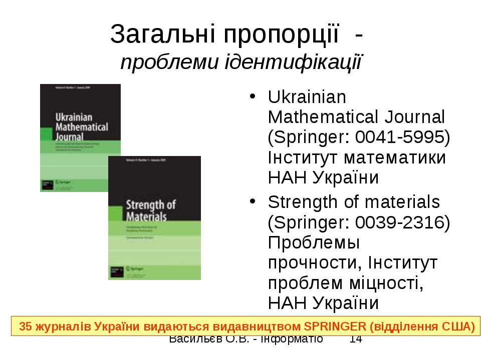 Загальні пропорції - проблеми ідентифікації Ukrainian Mathematical Journal (S...