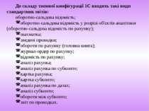До складу типової конфігурації 1С входять такі види стандартних звітів: оборо...
