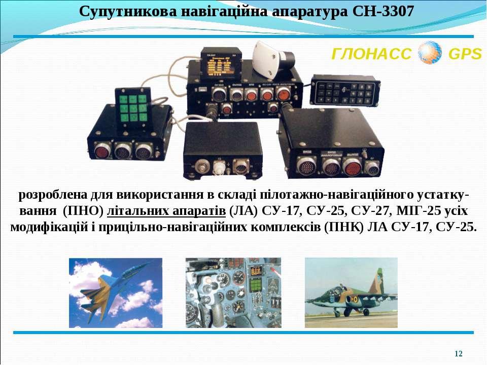 * ГЛОНАСС GPS розроблена для використання в складі пілотажно-навігаційного ус...