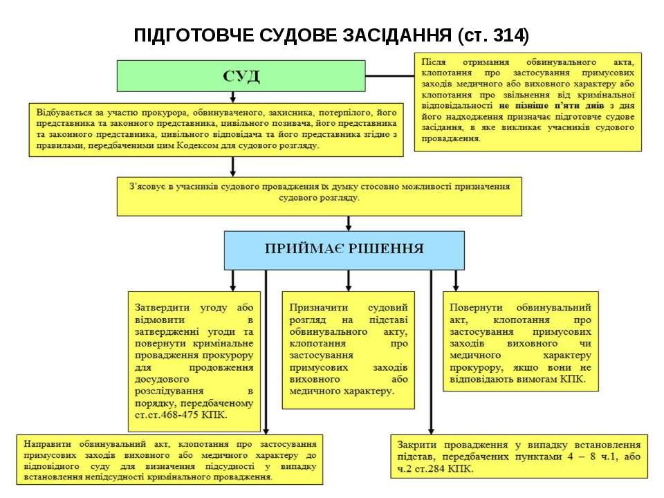ПІДГОТОВЧЕ СУДОВЕ ЗАСІДАННЯ (ст. 314)