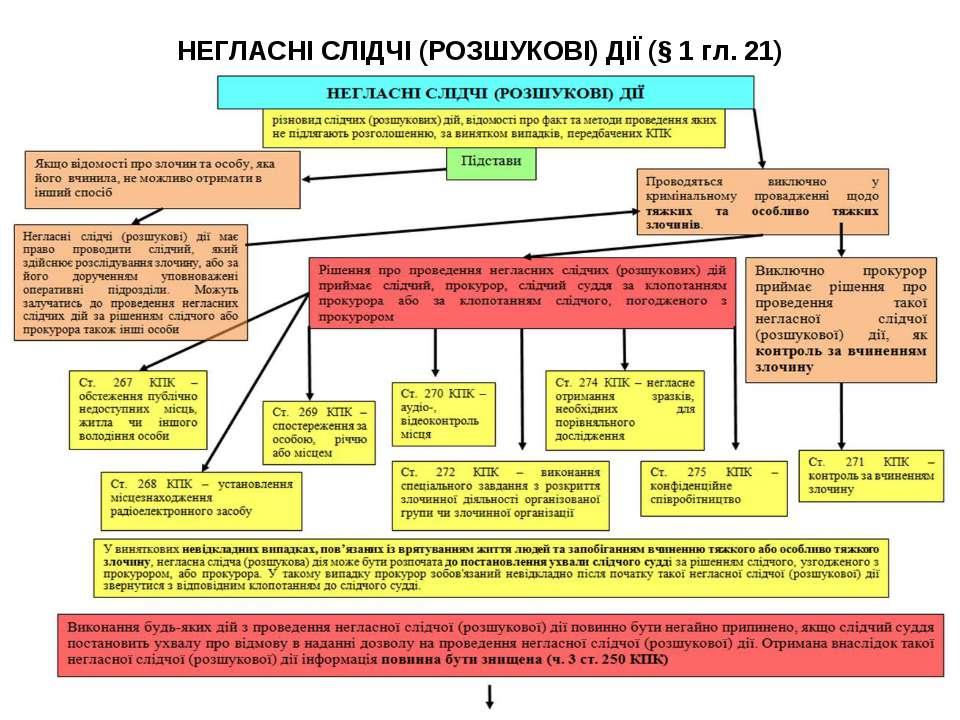 НЕГЛАСНІ СЛІДЧІ (РОЗШУКОВІ) ДІЇ (§ 1 гл. 21)