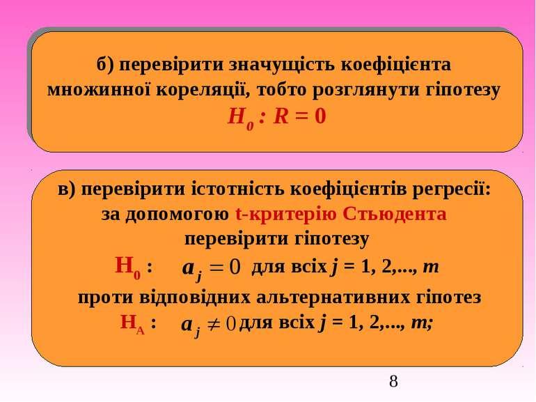 б) перевірити значущість коефіцієнта множинної кореляції, тобто розглянути гі...