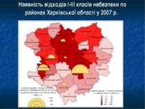 Наявність відходів І-ІІІ класів небезпеки по районах Харківської області у 20...