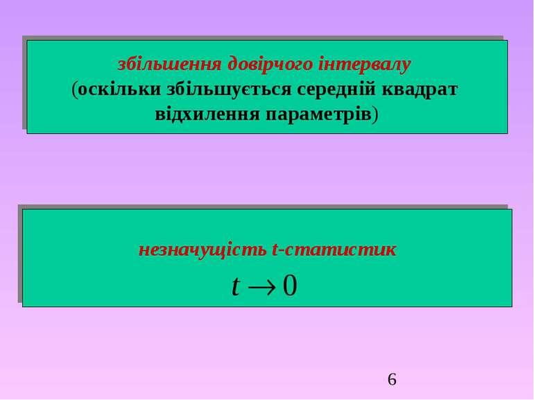 збільшення довірчого інтервалу (оскільки збільшується середній квадрат відхил...