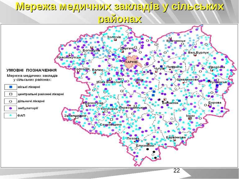 Мережа медичних закладів у сільських районах