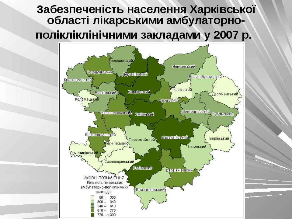 Забезпеченість населення Харківської області лікарськими амбулаторно-поліклік...