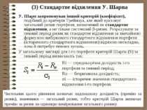 (3) Стандартне відхилення У.Шарпа У.Шарп запропонував інший критерій (коефі...