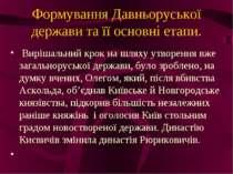 Формування Давньоруської держави та її основні етапи. Вирішальний крок на шля...