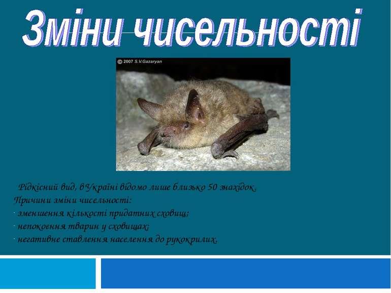 Рідкісний вид, в Україні відомо лише близько 50 знахідок. Причини зміни чисел...