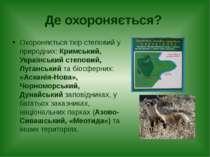 Де охороняється? Охороняється тхір степовий у природних: Кримський, Українськ...