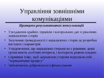 Управління зовнішніми комунікаціями Узгодження крайніх термінів і контрольних...