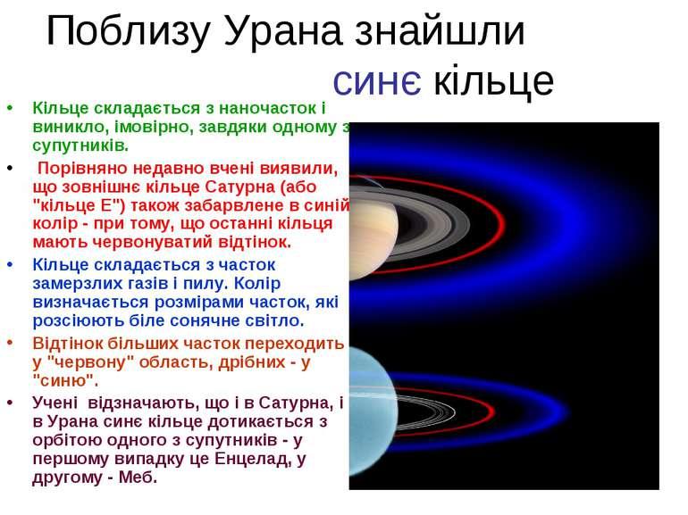 Поблизу Урана знайшли синє кільце Кільце складається з наночасток і виникло, ...
