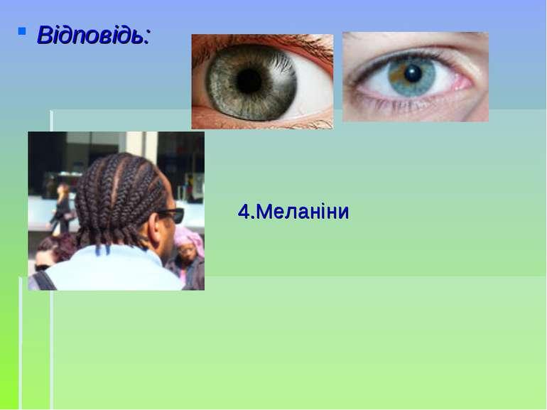 Відповідь: 4.Меланіни