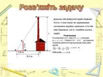 Довжина тіні фабричної труби дорівнює 35,8 м. У той самий час вертикально пос...
