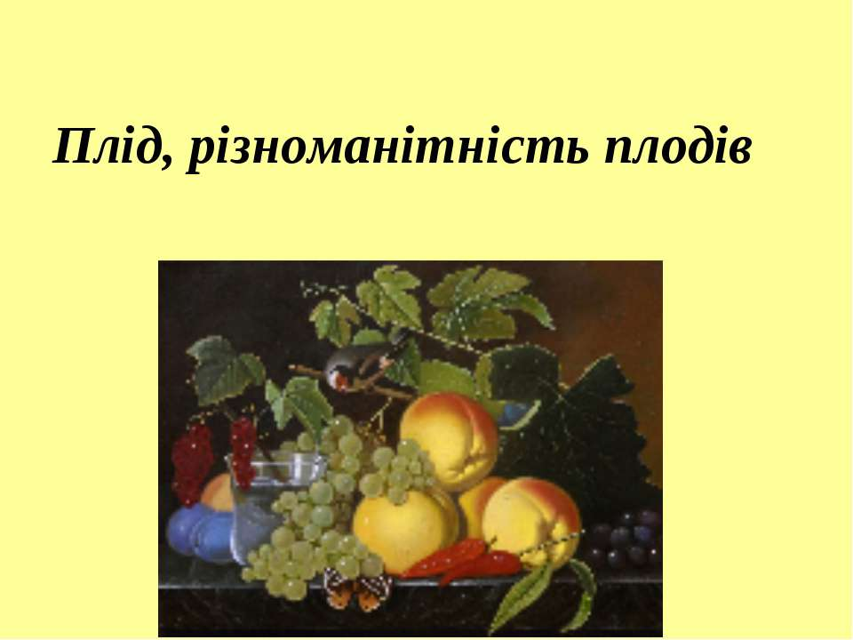 Плід, різноманітність плодів