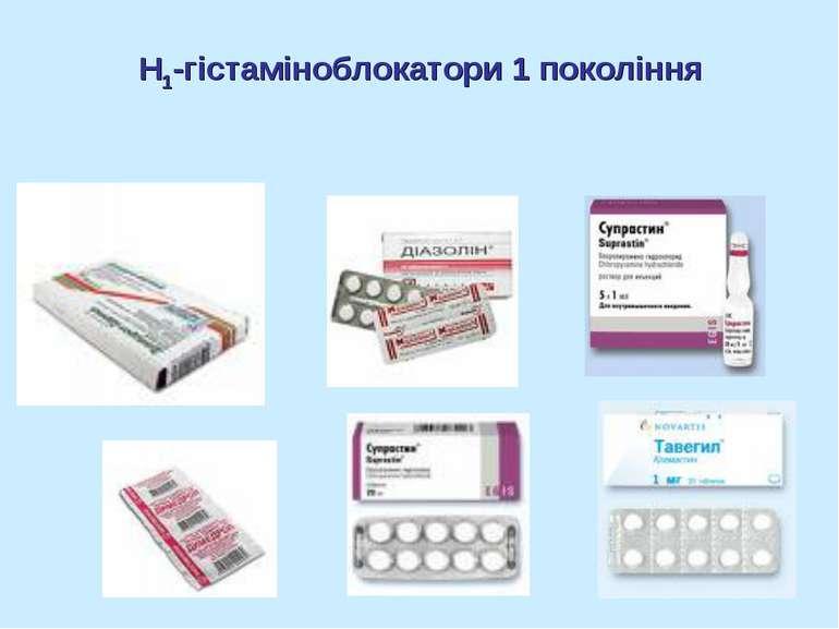 Н1-гістаміноблокатори 1 покоління
