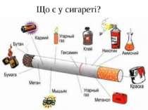 Що є у сигареті?